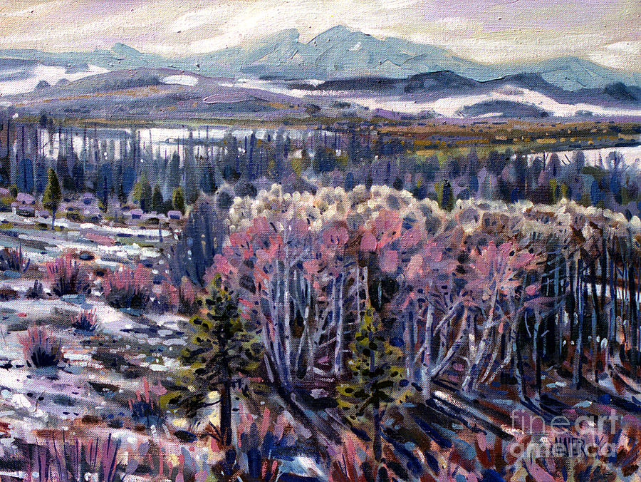 Aspen Painting - Aspen In April by Donald Maier