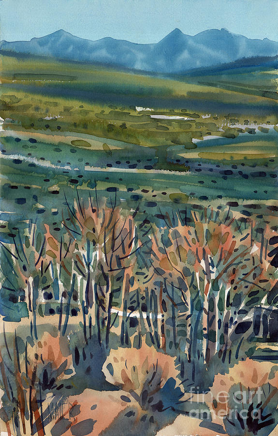 Aspens Painting - Aspen In The High Sierra by Donald Maier
