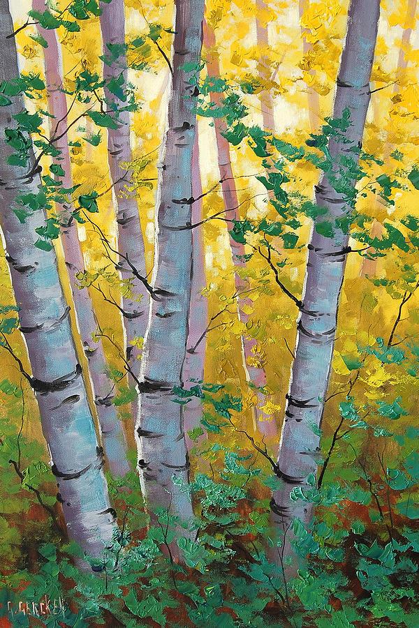 Fall Painting - Aspen Light by Graham Gercken