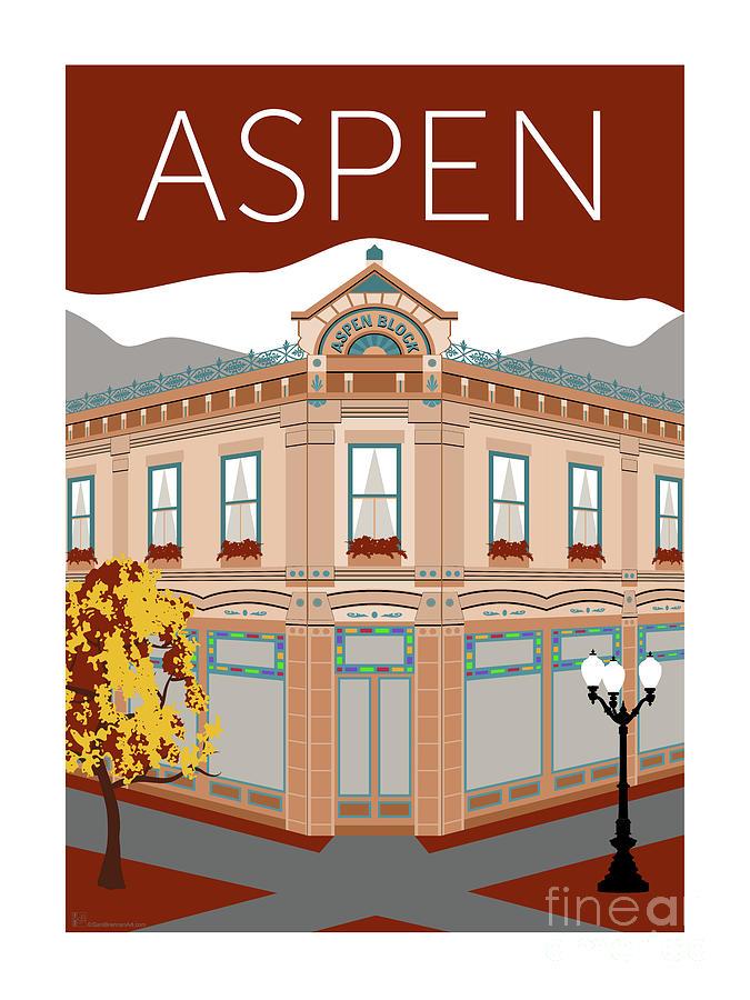 Aspen Maroon by Sam Brennan