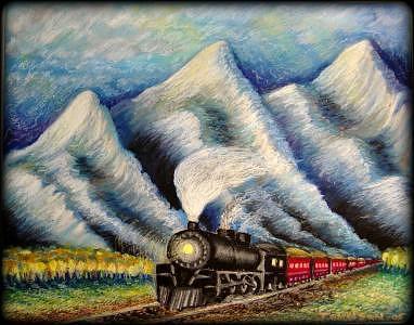 Railroad Painting - Aspen Railway by Ronald Johnson