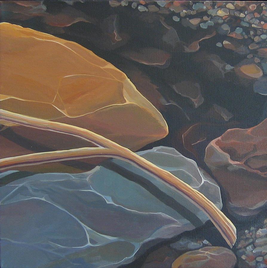 Branch Painting - Aspen Rain Branch by Hunter Jay