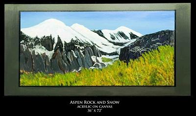 Landscape Painting - Aspen Rock And Snow by Robert Newport