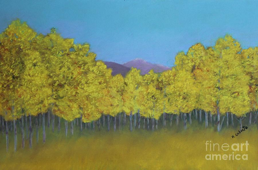 Landscape Painting - Aspen Stand by Mary Erbert