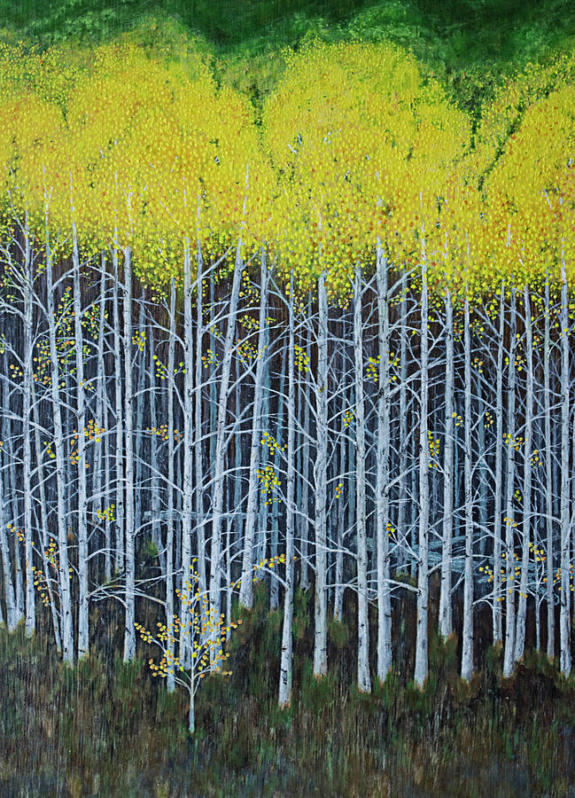 Aspen Stand the painting by L J Oakes
