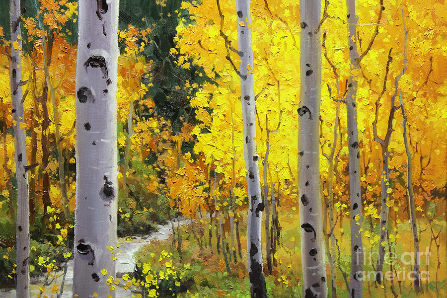 Aspen Stream Painting by Gary Kim