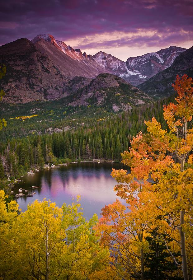 All Rights Reserved Photograph - Aspen Sunset Over Bear Lake by Mike Berenson
