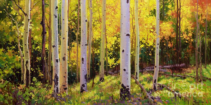 Aspen Symphony Gary Kim on Metal Wall Art Mountains Trees