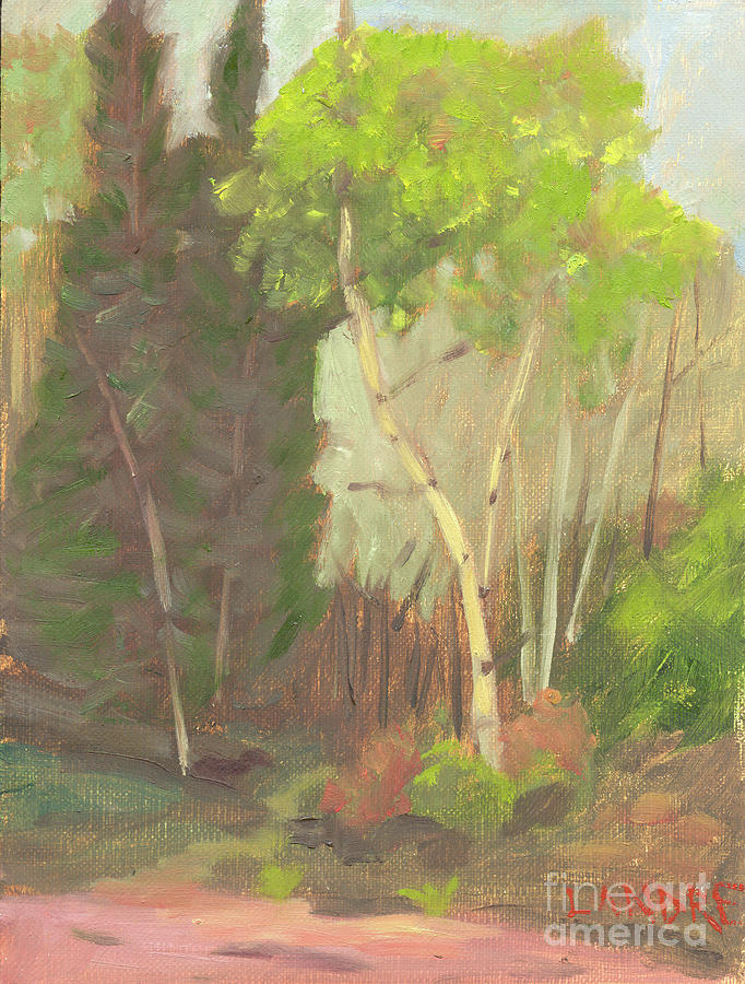 Colorado Painting - Aspen Trail by Lilibeth Andre