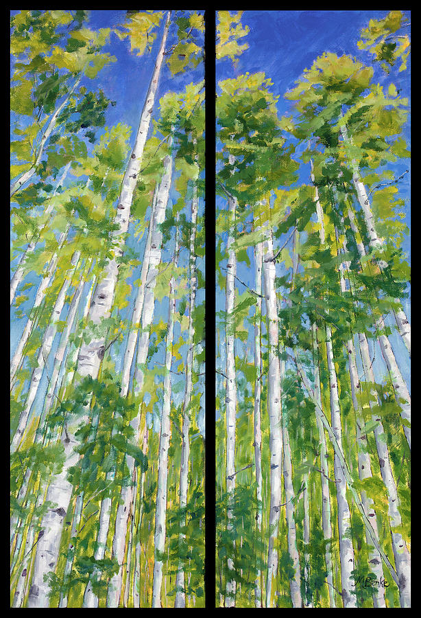 Aspen Twin Perspectives by Mary Benke