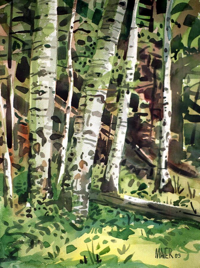 New Mexico Painting - Aspens In Pecos Canyon by Donald Maier