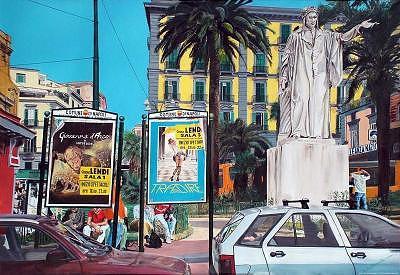 Urban Scene Painting - Aspettando Il Metro by Silvano Battimiello
