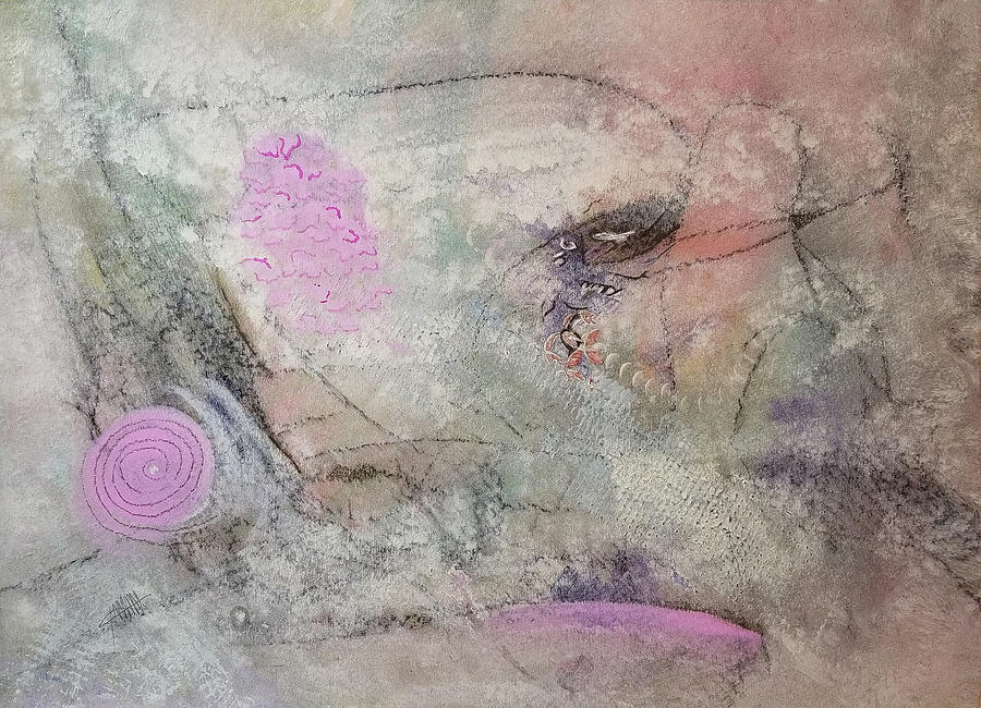 Pink Abstract Painting - Aspirational by Maura Satchell