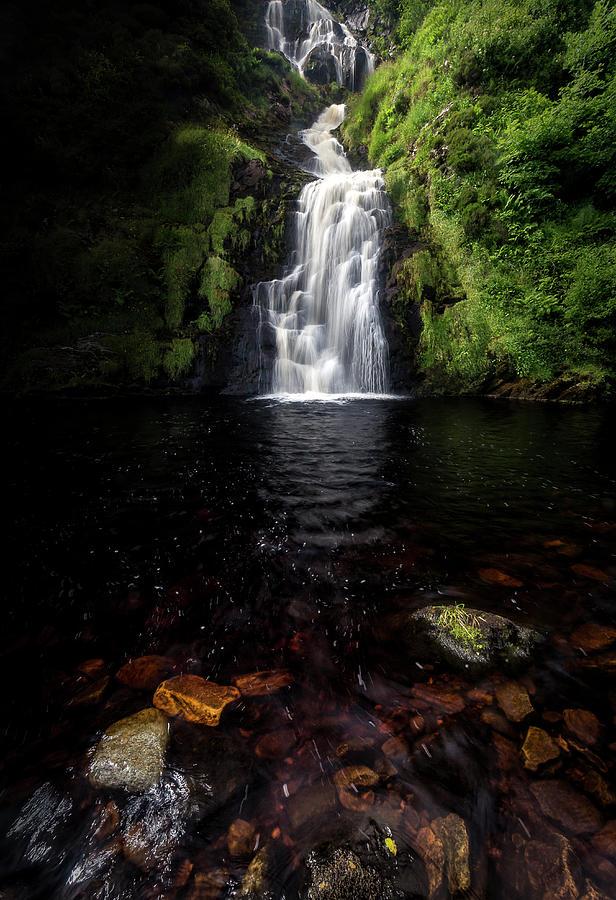 Donegal Photograph - Assaranca Waterfall by Glen Sumner