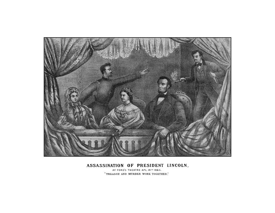 Abe Lincoln Drawing - Assassination Of President Lincoln by War Is Hell Store