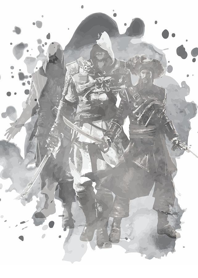Assassin S Creed Black Flag Art Print Digital Art By Steve Whitaker