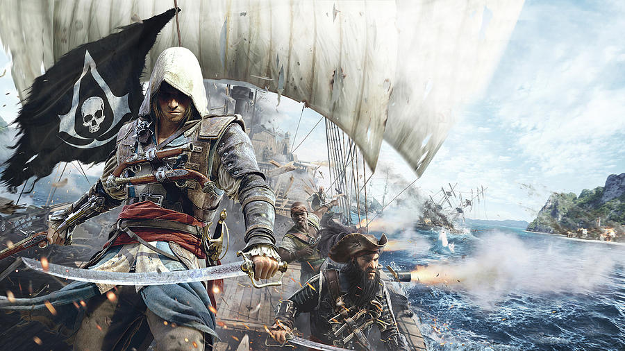 Assassin S Creed Iv Black Flag Digital Art By Bert Mailer
