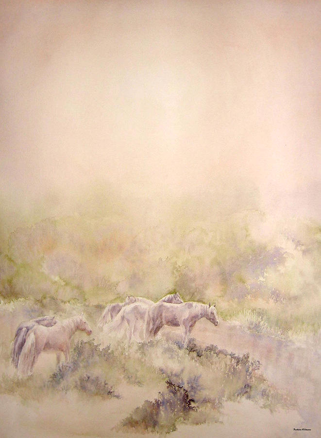 Horses Painting - Assateague Ponies by Barbara Widmann