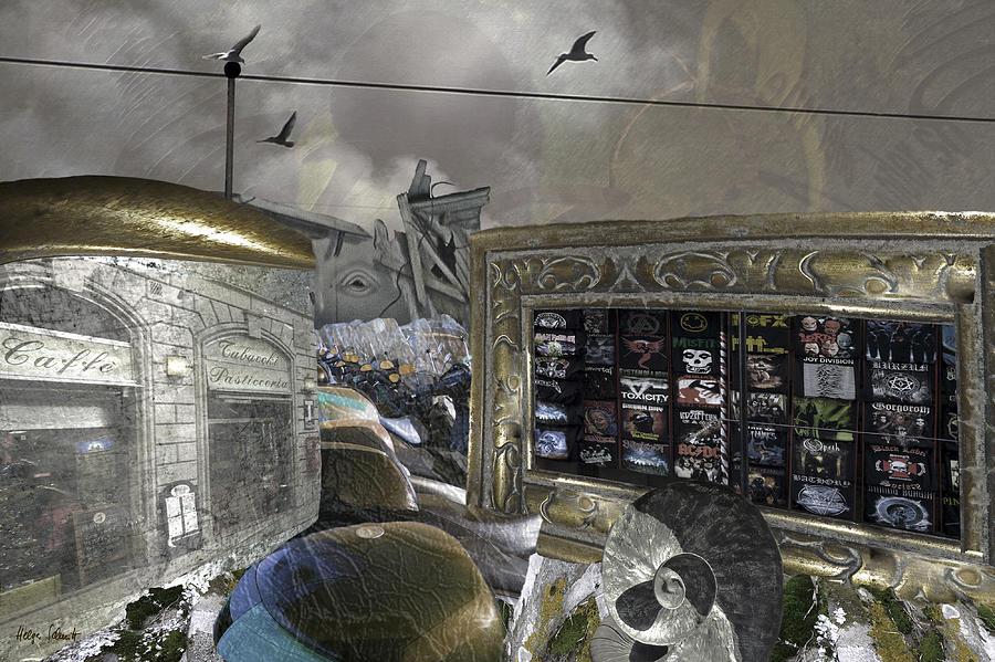 Surreal Digital Art - Assembled And Forgotten by Helga Schmitt
