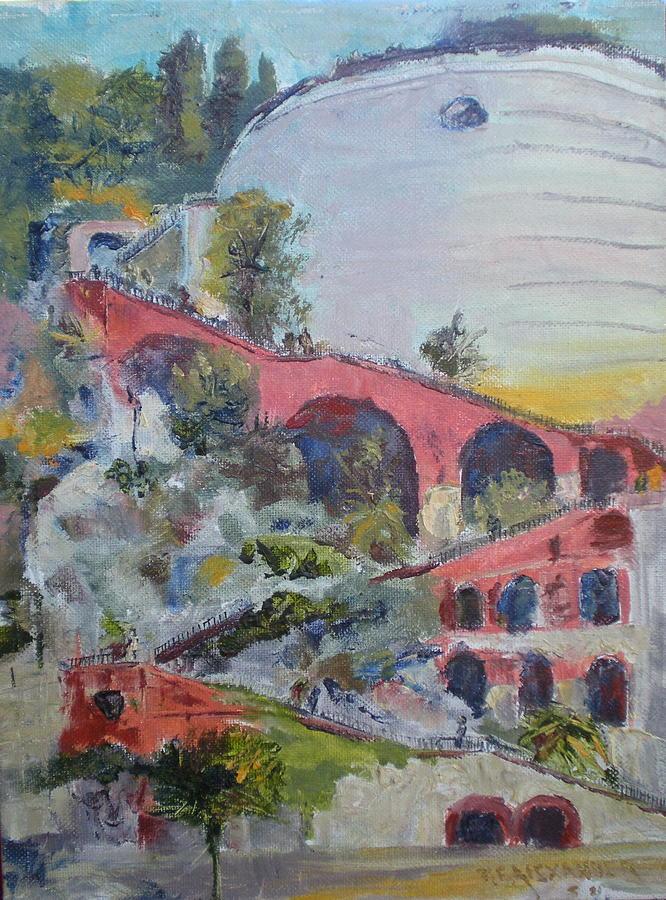 France Painting - Assenseur Du Chateau by Bryan Alexander