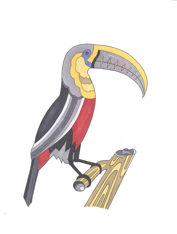Toucan Mixed Media - Assignment 13 by David Seter