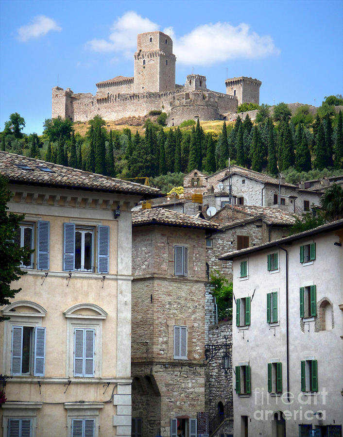 Assisi Italy Photograph - Assisi Italy - Rocca Maggiore - 02 by Gregory Dyer