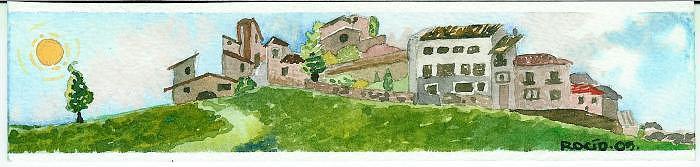 Landscape Painting - Assisi by Rocio Jimenez
