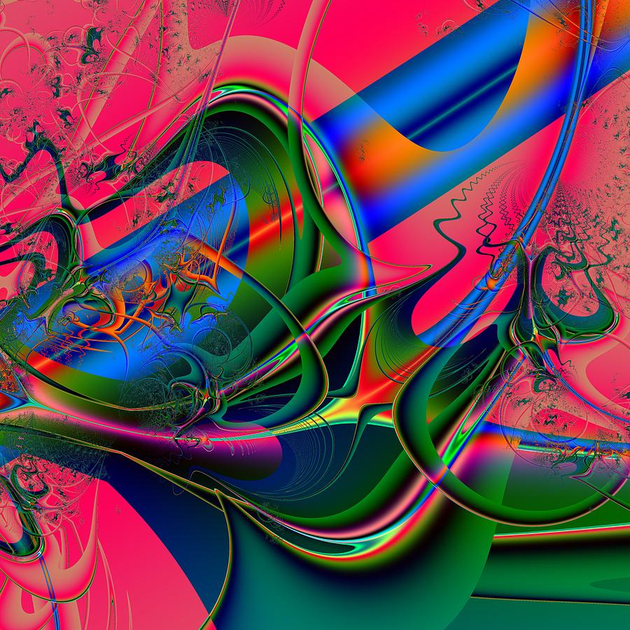 Interconnectivity Digital Art - Associative Aspect by Barroa Artworks