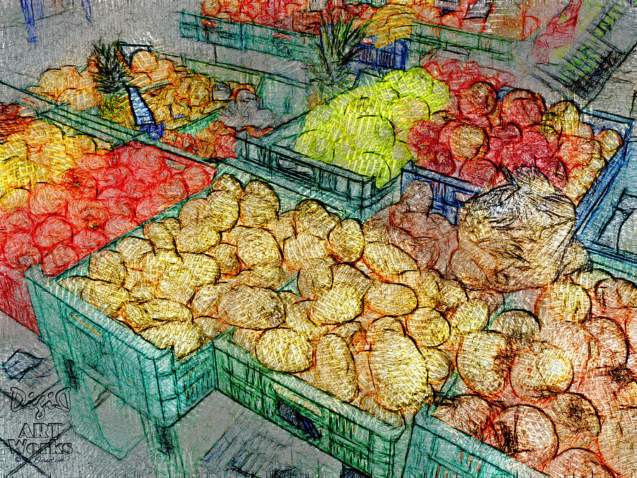 Veggies Photograph - Assorted Market Fare 1 by Dee Flouton