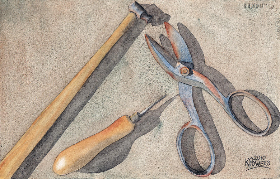 Assorted Painting - Assorted Tools by Ken Powers