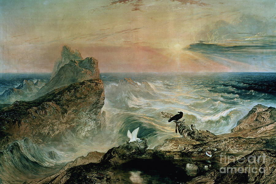 Sea Painting - Assuaging Of The Waters by John Martin
