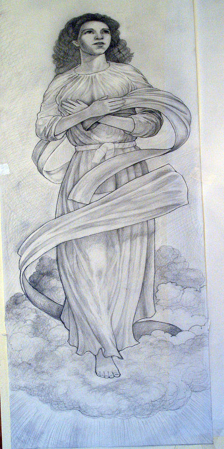Assumption Of The Virgin Drawing by Patrick RANKIN
