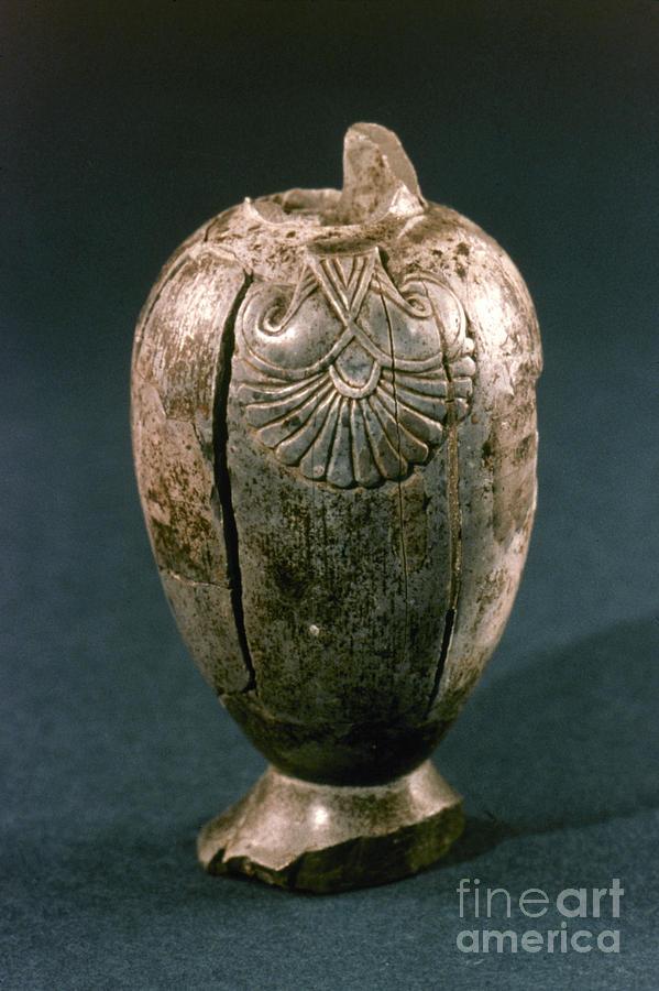 Ancient Photograph - Assyrian Jug by Granger