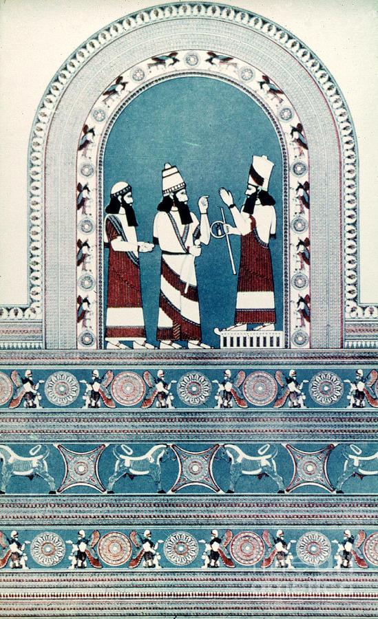 Ancient Photograph - Assyrian King, C720 B.c by Granger
