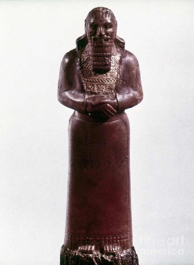 9th Century Bc Photograph - Assyrian Statue by Granger