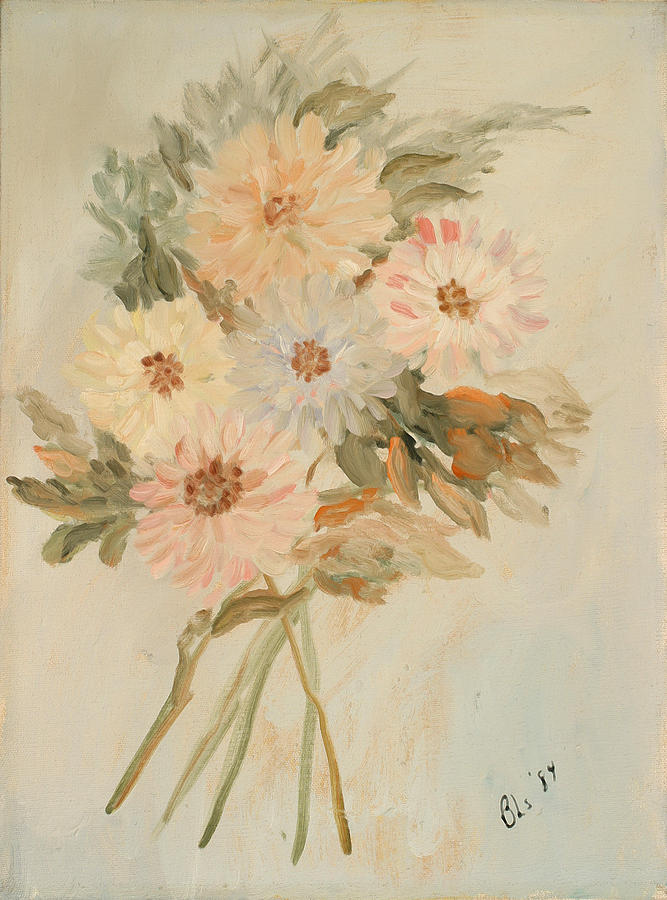 Floral Still Life Painting - Aster Bouquet by Betty Stevens