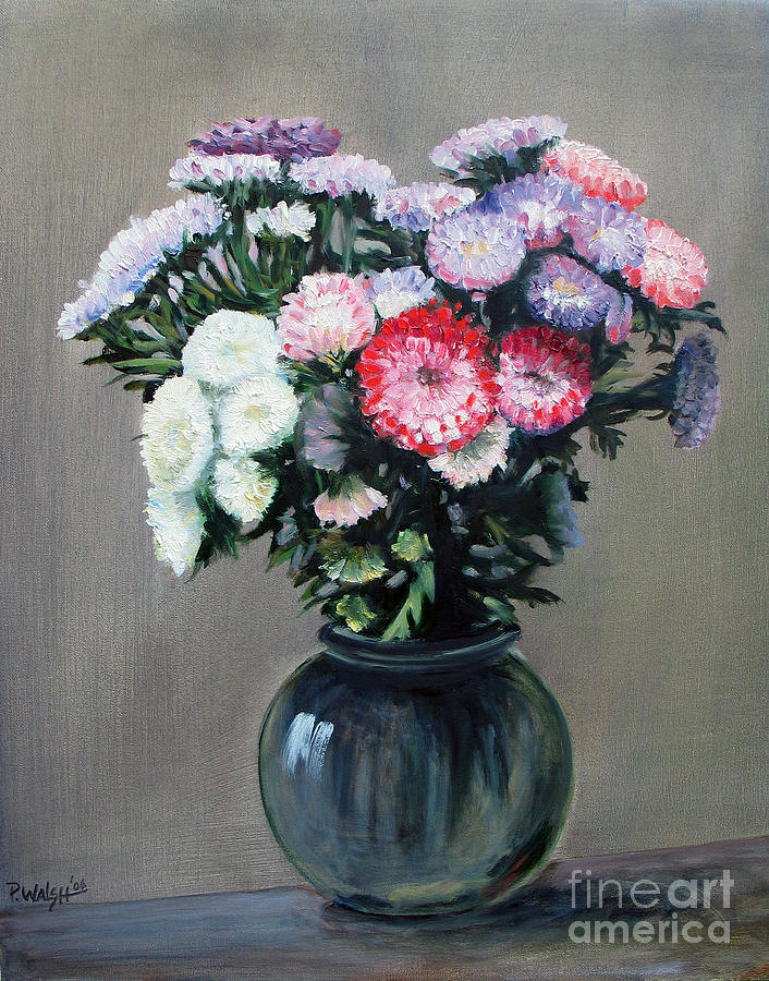 Flowers Painting - Asters by Paul Walsh