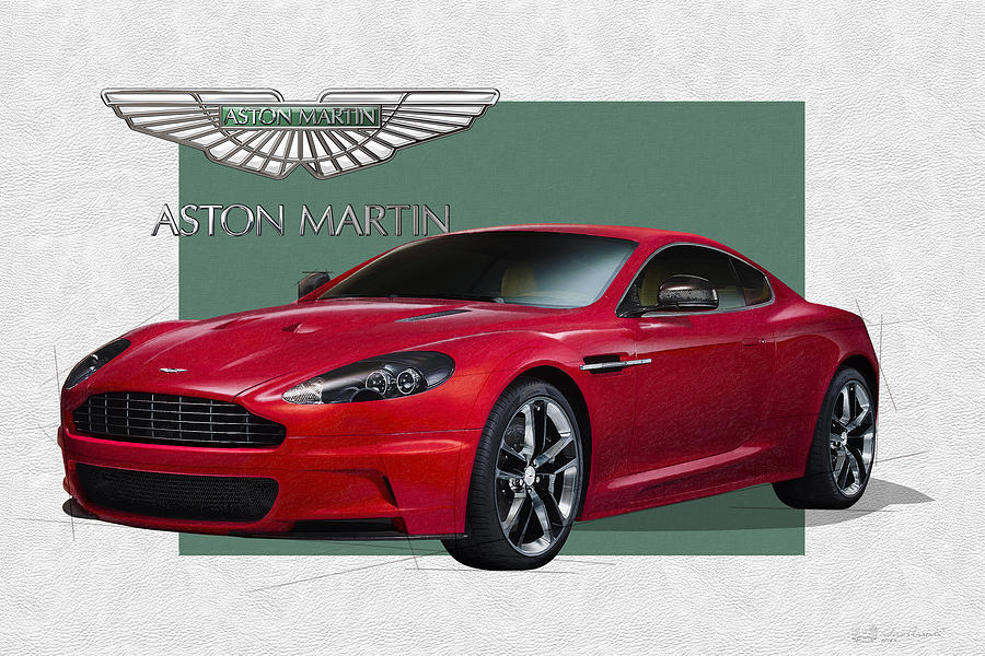 Car Photograph - Aston Martin  D B S  V 12  With 3 D Badge  by Serge Averbukh