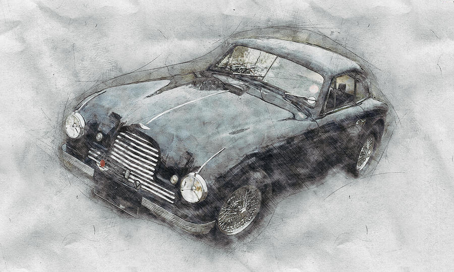 Aston Martin Db2 Gt Zagato 2 - 1950 - Automotive Art - Car Posters Mixed Media