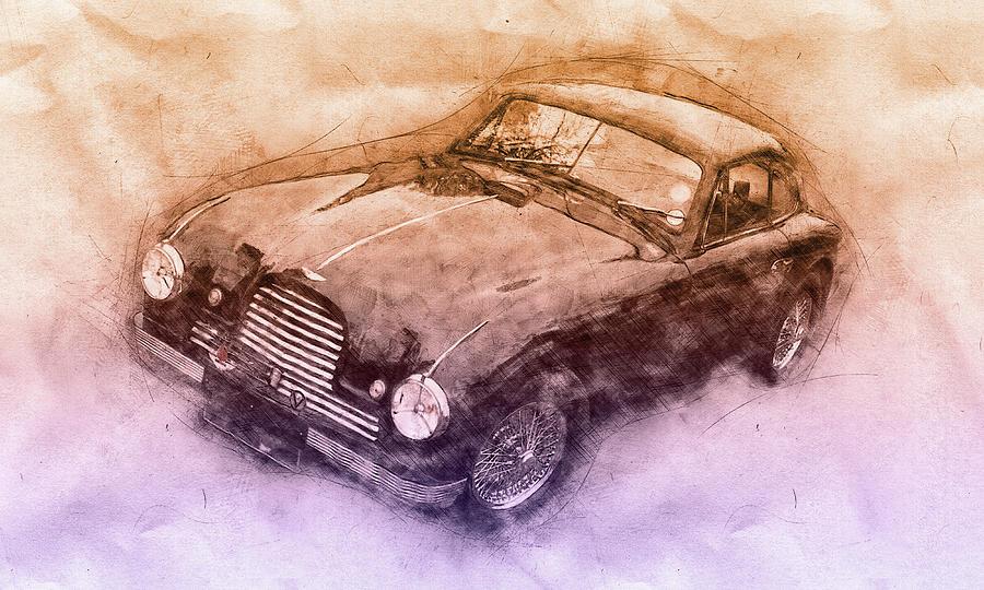 Aston Martin Db2 Gt Zagato 3 - 1950 - Automotive Art - Car Posters Mixed Media
