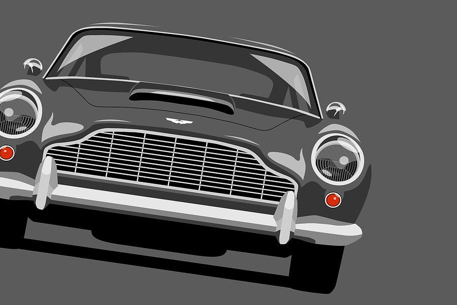 Aston Martin Db5 Digital Art by Michael Tompsett