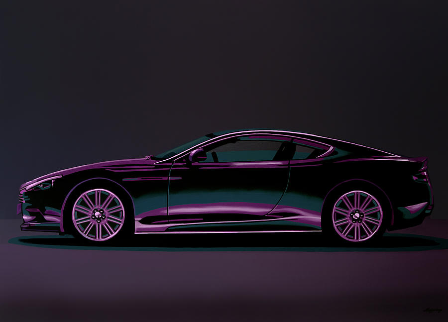 Aston Martin Dbs V12 2007 Painting Painting By Paul Meijering