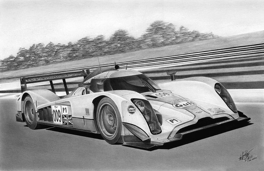 Aston Martin Drawing - Aston Martin Lmp1 by Lyle Brown