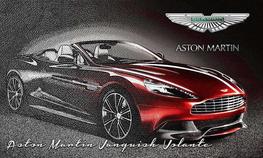 Transportation Photograph - Aston Martin Vanquish Volante  by Serge Averbukh
