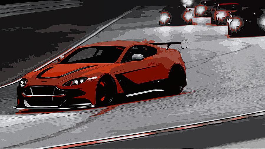Aston Martin Vantage Painting - Aston Martin Vantage Gt12 by Andrea Mazzocchetti
