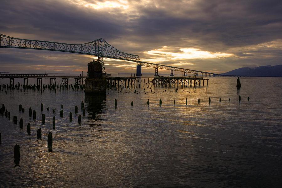 Landscape Photograph - Astoria-megler Bridge 2 by Lee Santa