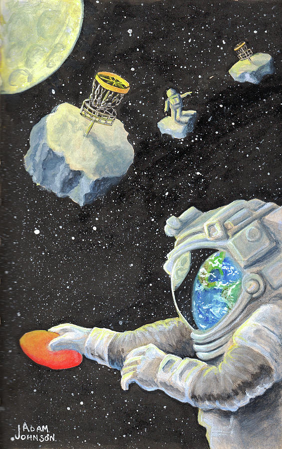 Astronaut Disc Golf by Adam Johnson