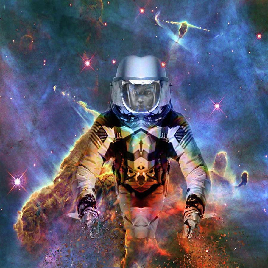 Astronaut Digital Art - Astronaut Disintegration by Matthew Lacey
