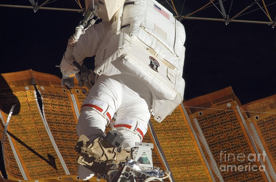 Adults Only Photograph - Astronaut Installs Stabilizers by Stocktrek Images