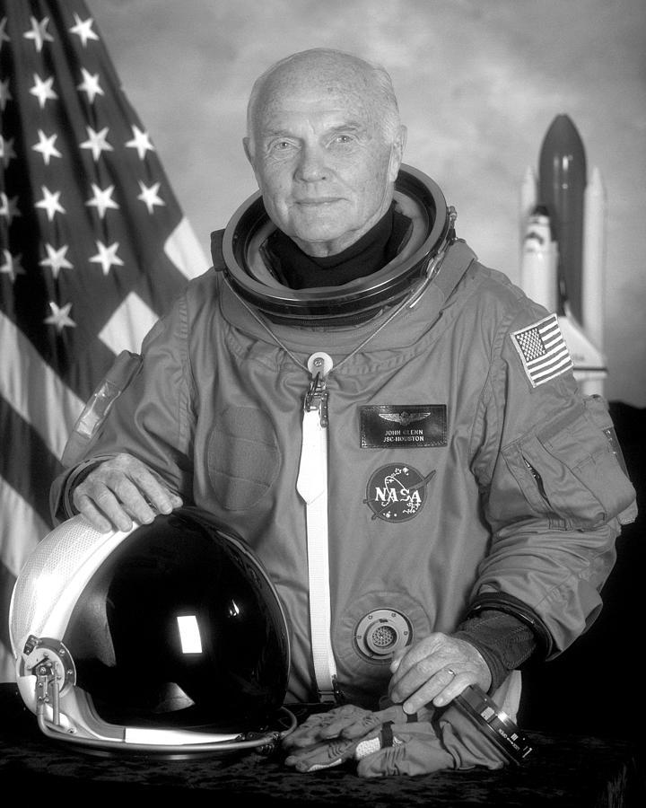 John Glenn Photograph - Astronaut John Glenn by War Is Hell Store